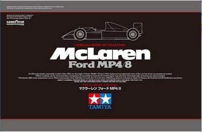 Tamiya 25172 1/20 F1 McLaren Ford MP4 / 8 modelo de montagem frete grátis