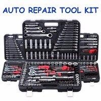 94 шт. Автомобиль Мотоцикл Repair Tool Case точность храповым механизмом рукавом универсальный шарнир оборудования tool kit Auto tool box