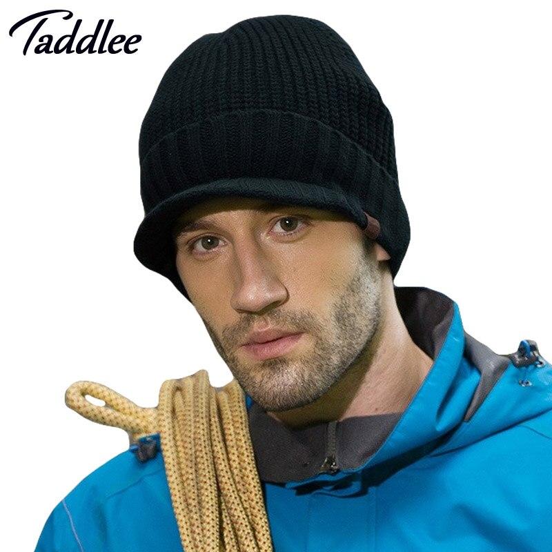 Taddlee brand Mens winter cap Set of heas