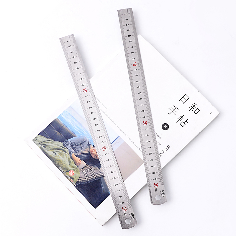 Sewing Foot 30cm Stainless Steel Metal Straight Ruler Tool Precision Double Sided Measuring Stationery School Office Supplies