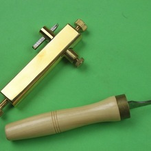 Violin maker tools, brass purfling and clean up groove knife, Luthier tools