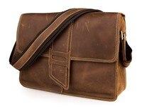 J M D Brand 100 Genuine Cow Leather Unique Special Closure Design Brown Shoulder Bag Cross