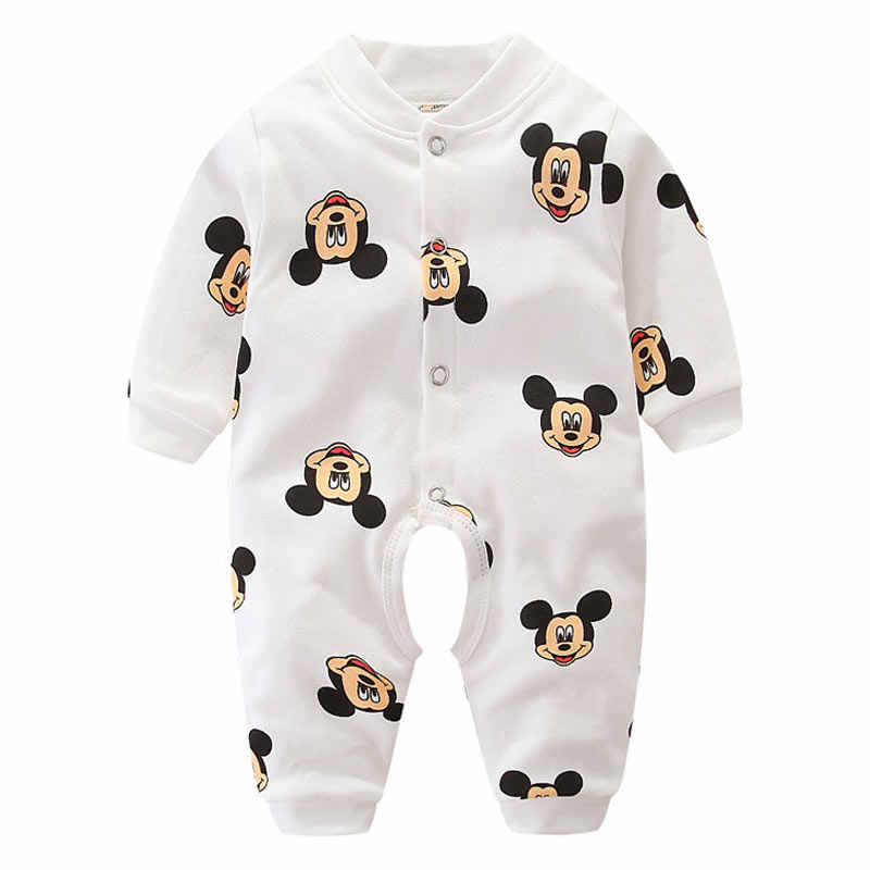 Newborn Baby Clothes Mickey Baby Rompers Long Sleeve Baby Girls Clothing Spring Summer Baby Boys Jumpsuits Print Infant Costume
