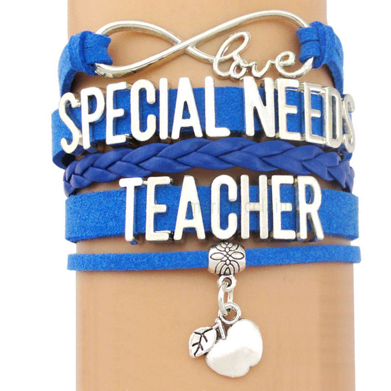 Special Needs Teacher Istant Teach Infinity Love Antique Silver Charm Bracelets Handmade Adjule Jewelry Women Men Gift In From