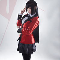 Hot Cool Cosplay Costumes Anime Kakegurui Yumeko Jabami Japanese School Girls Uniform Full Set Jacket+Shirt+Skirt+Stockings+Tie