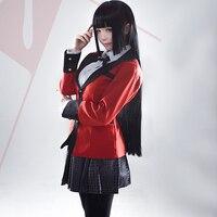 Hot Fajne Kostiumy Cosplay Anime Kakegurui Yumeko Jabami Japoński School Girls Jednolity Pełny Zestaw Kurtka + Koszula + Spódnica + pończochy + Krawat
