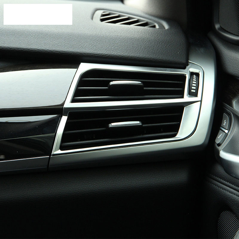 2017 Bmw 6 Series Gt Vs Bmw 5 Series Gt Interior Dashboard: ⓪ABS Matte Chrome Air Condition Outlet Vent Frame Trim For