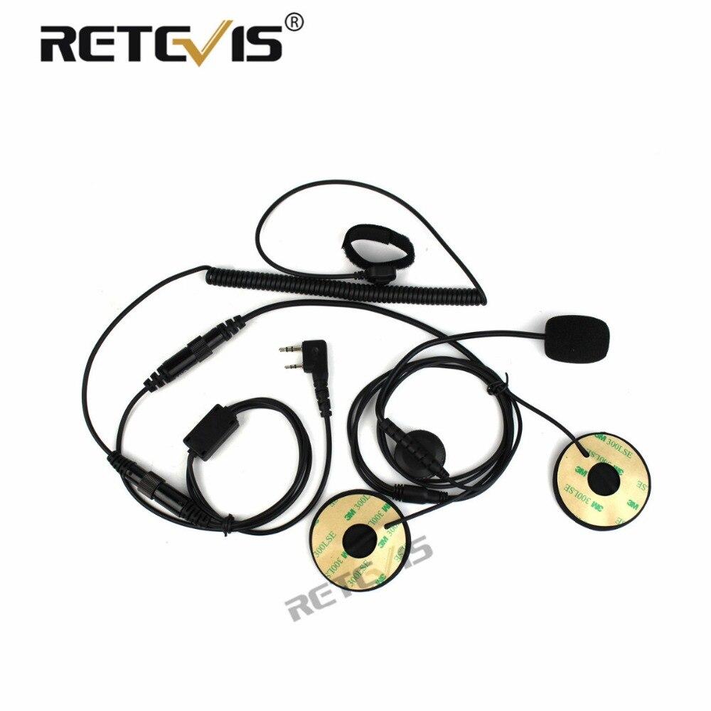 Motorrad Helm Headset 2Pin Finger PTT Dual-lautsprecher Walkie-talkie Ohrhörer für Kenwood für Baofeng UV-5R Retevis RT22 H777