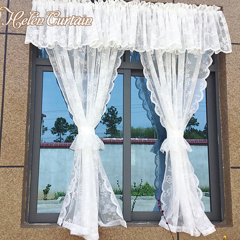 Super Us 42 0 Helen Curtain White Lace Door Curtains Valance Short Voile Kitchen Curtain Embroidered Tulle Curtains For Living Room Home Decor In Curtains Home Interior And Landscaping Thycampuscom