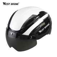 WEST BIKING Bicycel Helmet Windproof Magnet Glasses Bike Helmet Outdoor Casco Ciclismo Bicicleta MTB Road Riding Cycling Helmet