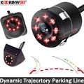 Koorinwoo, динамическая траектория, автомобильная парковочная камера, багажник, 8 огней, движущаяся парковочная линия, автомобильная обратная к...