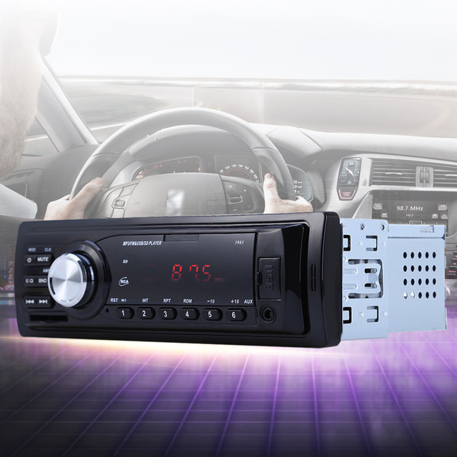 New 5983 car radio auto audio stereo mp3 player support fm sd aux new 5983 car radio auto audio stereo mp3 player support fm sd aux usb interface for sciox Choice Image