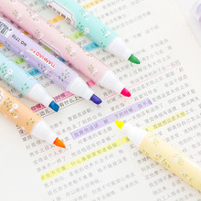 6 шт. креативный цветной конфетный текстовый маркер с милым рисунком печати знак заметки повседневные канцелярские принадлежности офисные школьные принадлежности