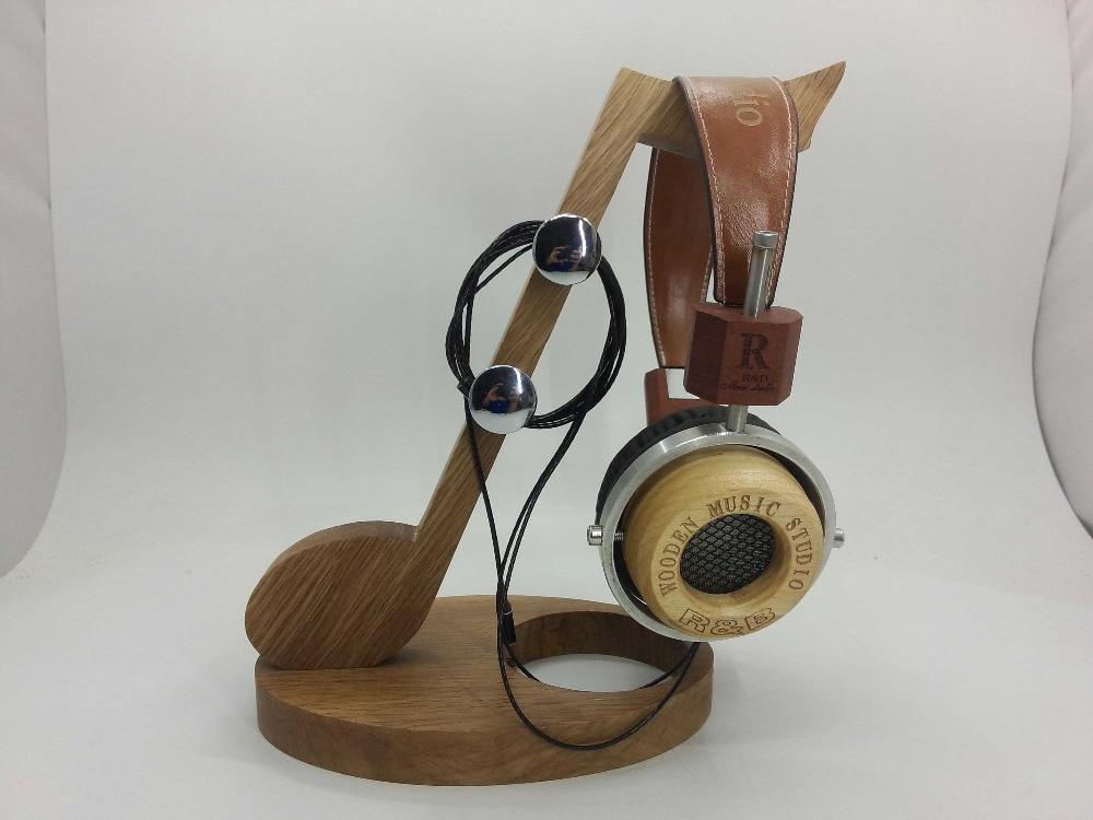 R & B wooden hi-fi headphones Pentagonal Maple wood Handmade hi fi акустика b bo beolit15 airplay beolit12