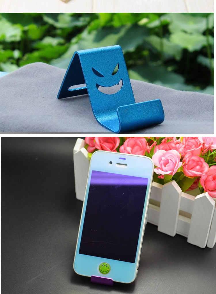 Soporte superior, soporte de metal, funda de móvil con soporte Universal de devil smiley para Xiaomi Redmi para iPhone Xs Max XR
