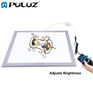 Image 1 - PULUZ 1200LM 15/15in/38x38 cm LED צילום צללים תחתון אור מנורת פנל Dimmable עבור 40cm תמונה סטודיו לירות אוהל תיבה
