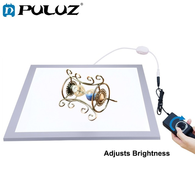 PULUZ 1200LM 15/15in/38x38 cm LED צילום צללים תחתון אור מנורת פנל Dimmable עבור 40cm תמונה סטודיו לירות אוהל תיבה