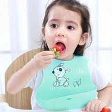 Детский нагрудник для ужина, детский нагрудник, супер мягкий силикон, трехмерный детский нагрудник для ужина, большой размер, не нужно мыть
