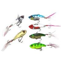 5pack x (6pcs/lot 12g 5.5cm fishing lures set spoon Metal VIB sequins Fish hard bait bass vibration lure crankbait