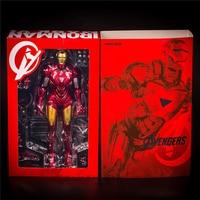 Super Hero Iron Man Action Figure 28cm MK6 Iron Man Doll PVC figure Toy Anime Figure kids toys for fans gift
