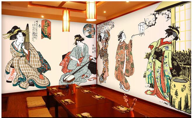 3d wallpaper custom mural non-woven wall sticker The ancient Japanese ladies retro background paintings 3d wall murals wallpaper an unknown treasure in rajasthan the bundi wall paintings