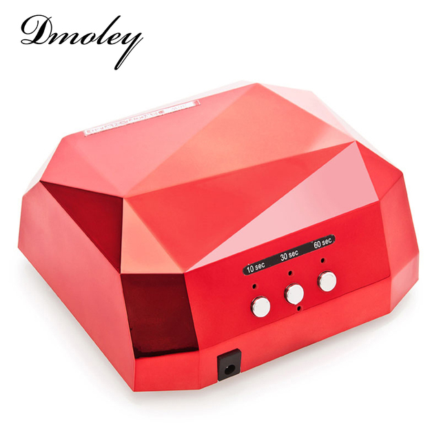 Dmoley 36W UV Led Lamp Nail Dryer 6 Color Diamond Shaped LED UV Lamp Nail Lamp Curing for UV LED Gel Nails Polish Nail Art Tools