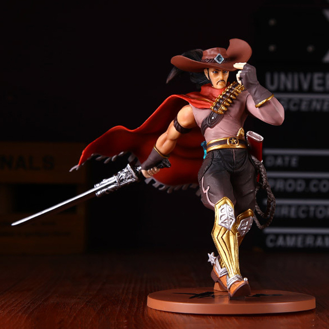 LOL League of Legends figure Action Game yasuo Cowboy Model Toy action-figure 3D Game Heros anime party decor boy Creative Gift 3