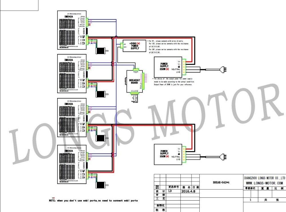 DE SCHIFF & EU FREIES! 4 achsen Nema 23 schrittmotor 435oz. in 4.2A ...