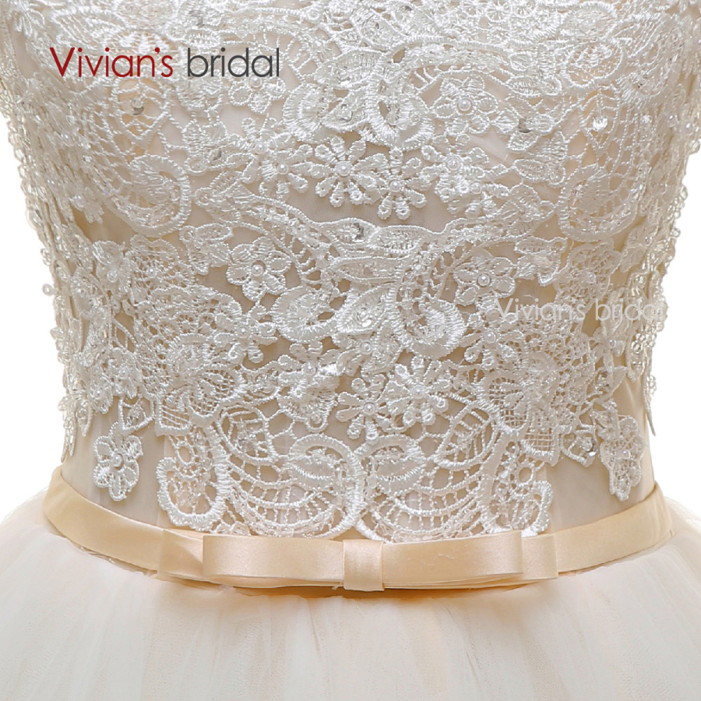 Long Sleeves Beads Lace Champagne Wedding Dresses (10)