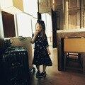 Ropa del niño del bebé del niño de la venta caliente abrigos niñas vestido floral plisado vestido largo sección de estudiantes de moda de ropa de vestir bab