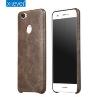 X-level Luxury Vintage PU Leather Phone case for Huawei Nova Simple Slim thin leather back cover FG2