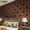 Carefully Crafted Non Woven Wallpaper 3D Relief European Style Velvet Wallpaper Bedroom Warm TV Backdrop Flocking