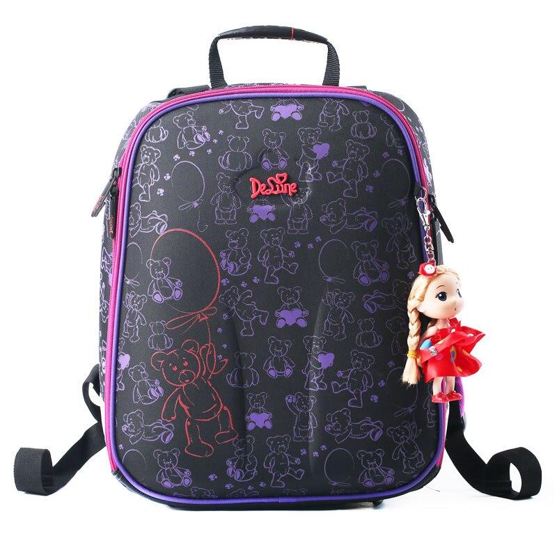 Детская Школьные ранцы для Обувь для девочек основной 1-5 Класс школьный рюкзак ортопедический Водонепроницаемый Дети сумка Mochila Escolar 4 цвета