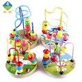 Brinquedo Woo Crianças Colorido Dos Desenhos Animados Educação infantil De Madeira Talão Brinquedo Bloco de Construção de Brinquedos para crianças de 1 ~ 3 Anos de Idade As Crianças