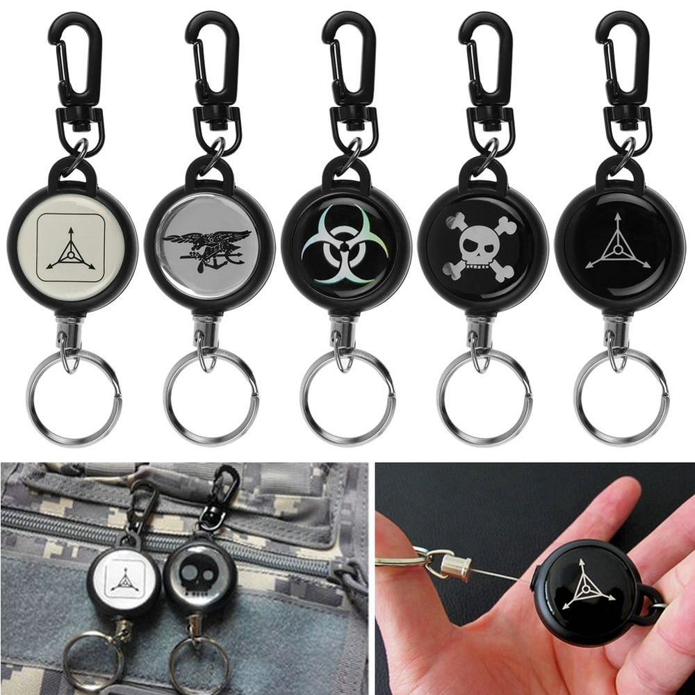 New Heavy Duty Retractable Pull Reel Badge Key Chain Belt Clip ID Card Holder Keychain Keyring Jewelry