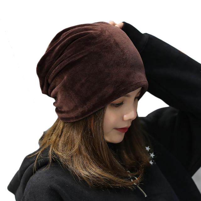 577fa6dd Winter Plush Solid Caps Simple Leisure Korean Spring Warm Velvet Hats  Stylish Skullies Hats Female Beanies Bonnet Caps Women-in Skullies & Beanies  from ...