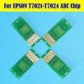 2 conjunto de reset automático arc chip para epson t7021-t7024 cartucho t7021 para epson wp-4025 wp-4015 wp-4515 wp-4525 wp-4535 wp-4545 chips