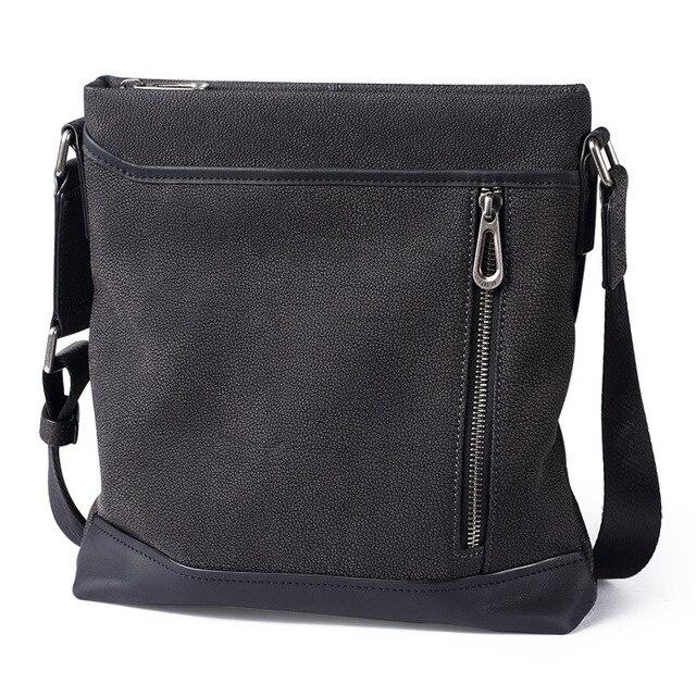 35eec780c PaboJoe brand genuine leather bag 100% cow leather Messenger Bag men Soft  shoulder bag 2018 new