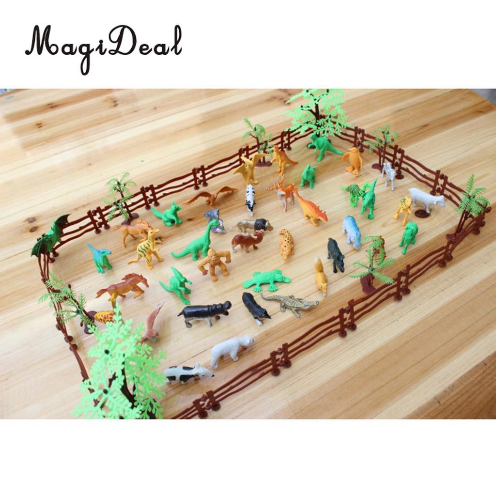 set simulazione fattoria zoo modello animale figura figurine 68pcs