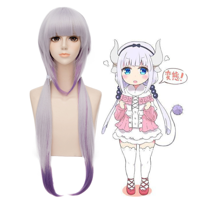 US $20 99 |Anime Miss Kobayashi's Dragon Maid Kanna Kamui Cosplay Wig  Halloween Play Wig Party Stage Carnival Hair High quality on Aliexpress com  |