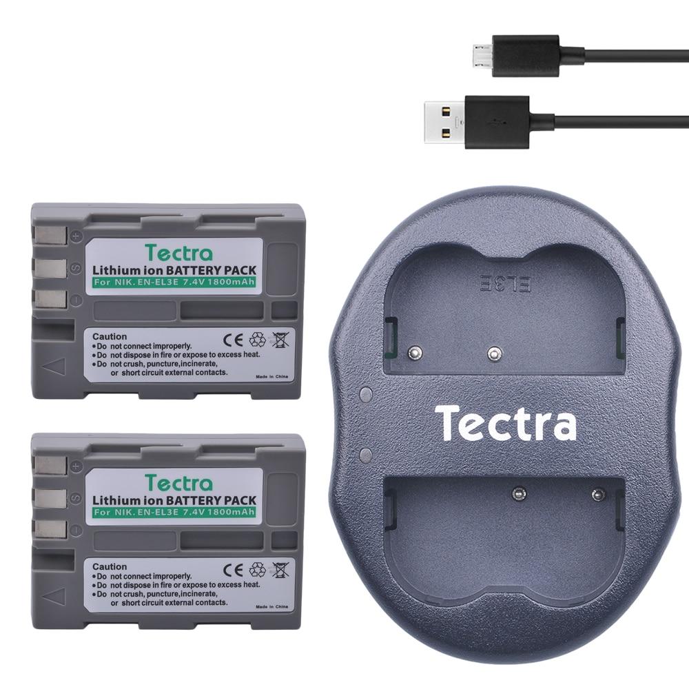 2Pcs EN-EL3e ENEL3e Battery+USB Dual Charger for Nikon D50 D70 D70s D80 D90 D100 D200 D300 D300S D700 MB-D10 цена и фото
