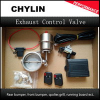 63mm Universal Exhaust Pipe Vacuum Valve Auto Car Exhaust Control Valve Set with Wireless Remote Controller Switch System
