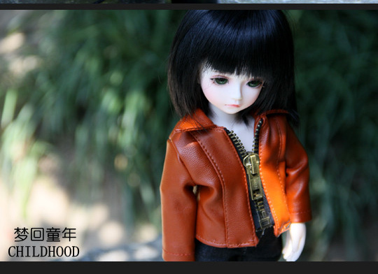 Casual Leather Jacket Coat for BJD Doll 1/6 1/4 MSD 1/3 Uncle IP SOOM Doll Clothes CW52 new handsome fashion stripe black gray coat pants uncle 1 3 1 4 boy sd10 girl bjd doll sd msd clothes