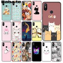 Babaite Cute Cat Kitty Space Luxury Unique Design Phone Cover for Redmi 5 plus Note 5 Xuiaomi Mi 8 8SE 6 MIX 2 2S Mobile Cases(China)
