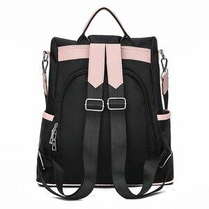 Image 4 - ファッション盗難防止女性バックパック有名なブランドの女性大容量のバックパック高品質防水オックスフォード女性バックパック