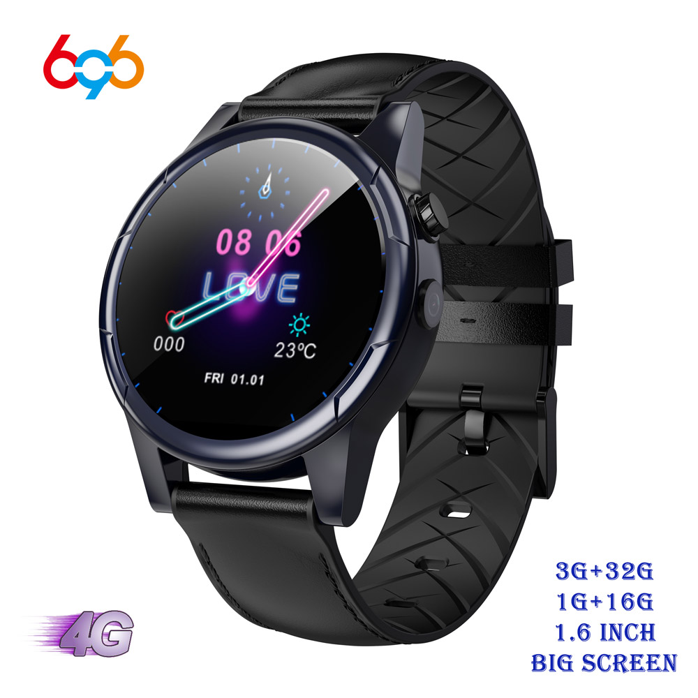 696 X361 4G LTE Android 7.1 <font><b>Smart</b></font> <font><b>Watch</b></font> 1.6inch big Screen Round WiFi GPS Sim Card 4G Smartwatch Phone Heart Rate Monitor Camera image