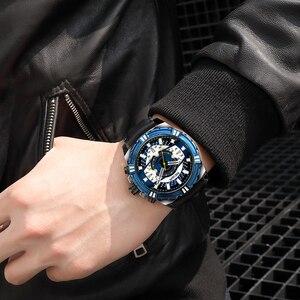 Image 3 - Megir marca de luxo relógio cronógrafo masculino relógios homem à prova dwaterproof água data esporte militar relógio quartzo masculino montre homme