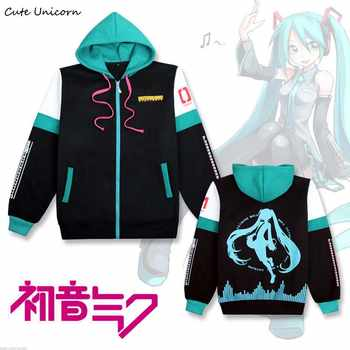 2019 Hatsune Miku hooded Sweatshirt outwear Coat women clothing cosplay costume girls clothes spring zipper coats and jackets - DISCOUNT ITEM  23% OFF All Category