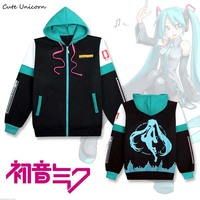 2019 Hatsune Miku hooded Sweatshirt outwear Coat women clothing cosplay costume girls clothes spring zipper coats and jackets