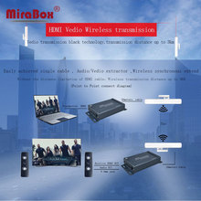 Mirabox Wireless HDMI Extender with 3.5mm Audio Extractor support 1080p indoor 150m~300m outdoor 3km over cat5 for HD TV